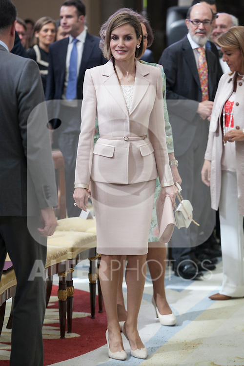 Queen Letizia of Spain attends 'Reina Sofia Awards' for Integration and Rehabilitation for people with disabilities at El Pardo Palace in Madrid, Spain. April 29, 2015. (ALTERPHOTOS/Victor Blanco)
