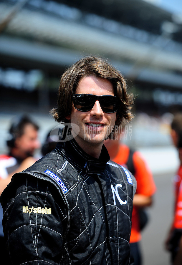 May 28, 2010; Indianapolis, IN, USA; Indy Light Series driver Arie Luyendyk Jr. during the Freedom 100 at the Indianapolis Motor Speedway. Mandatory Credit: Mark J. Rebilas-