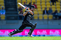 New Zealand's Jimmy Neesham. Twenty20 International cricket match between NZ Black Caps and England at Westpac Stadium in Wellington, New Zealand on Sunday, 3 November 2019. Photo: Dave Lintott / lintottphoto.co.nz