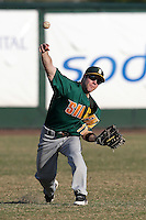 Siena Saints Kyle Hudson #10 during a game vs Stetson Hatters at Melching Field in De Land, Florida;  March 15, 2011.  Siena defeated Stetson 6-4.  Photo By Mike Janes/Four Seam Images