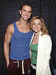 Richard Fleeshman & Caissie Levy.attending the Broadway Opening Nigh Gypsy Robe Ceremony for 'GHOST' honoring recepient James Brown III at the Lunt-Fontanne Theater on 4/23/2012 in New York City.
