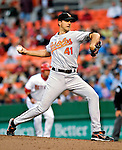 18 May 2007: Baltimore Orioles starting pitcher Steve Trachsel, on the way to recording his second win of the season, winds up on the mound against the Washington Nationals at RFK Stadium in Washington, DC. The Orioles defeated the Nationals 5-4 in the first game of the 3-game interleague series...Mandatory Photo Credit: Ed Wolfstein Photo