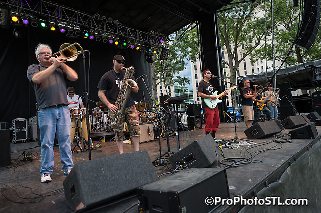 Unifyah in concert at Taste St. Louis Fair in downtown St. Louis, MO on Sept 28, 2013.