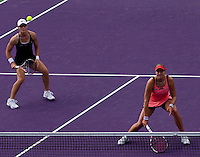 Sam STOSUR (AUS) and Nadia PETROVA (RUS) against Gisela DULKO (ARG) and Flavia PENNETTA (ITA) in the finals of the women's doubles. Gisela Dulko & Flavia Pennetta beat Nadia Petrova & Sam Stosur 4-6 (10-7)...International Tennis - 2010 ATP World Tour - Sony Ericsson Open - Crandon Park Tennis Center - Key Biscayne - Miami - Florida - USA - Sun 4 Apr 2010..© Frey - Amn Images, Level 1, Barry House, 20-22 Worple Road, London, SW19 4DH, UK .Tel - +44 20 8947 0100.Fax -+44 20 8947 0117