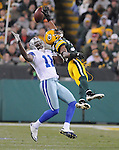 Green Bay Packers cornerback Tramon Williams tips a ball from Dallas Cowboys receiver Dez Bryant during the third quarter of the game at Lambeau Field on Nov. 7 , 2010.