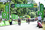 Michael Matthews (AUS) Team Sunweb on front of the peloton as they cross the intermediate sprint already 5'50&quot; ahead of Green Jersey Marcel Kittel (GER) Quick-Step Floors during Stage 16 of the 104th edition of the Tour de France 2017, running 165km from Le Puy-en-Velay to Romans-sur-Isere, France. 18th July 2017.<br /> Picture: ASO/Alex Broadway | Cyclefile<br /> <br /> <br /> All photos usage must carry mandatory copyright credit (&copy; Cyclefile | ASO/Alex Broadway)