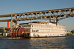 Sternwheeler Queen of the West on the Willamette River, Portland, Oregon