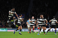Siya Kolisi of Barbarians (Stormers & South Africa) celebrates winnin the Killik Cup match between the Barbarians and Argentina at Twickenham Stadium on Saturday 1st December 2018 (Photo by Rob Munro/Stewart Communications)