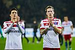 10.02.2018, Signal Iduna Park, Dortmund, GER, 1.FBL, Borussia Dortmund vs Hamburger SV, <br /> <br /> im Bild | picture shows:<br /> Gotoku Sakai (Hamburger SV #24) und Andr&eacute; Hahn (HSV #11) bedanken sich bei den Fans, <br /> <br /> <br /> Foto &copy; nordphoto / Rauch