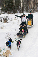 Jeff King w/Iditarider on Trail 2005 Iditarod Ceremonial Start near Campbell Airstrip Alaska SC