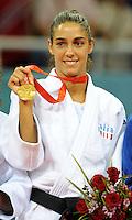 Esultanza di Giulia Quintavalle medaglia d'oro nel Judo categoria fino a 57Kg.USTB Gymnasium.Pechino - Beijing 11/8/2008 Olimpiadi 2008 Olympic Games.Foto Andrea Staccioli Insidefoto