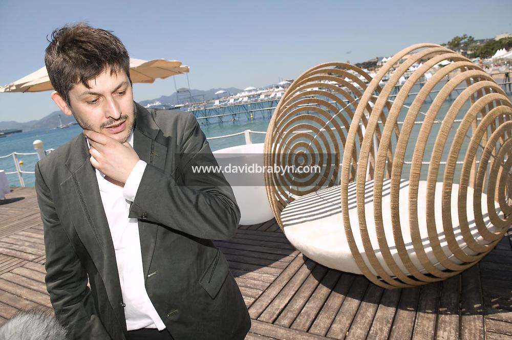 Christophe Honoré, dejeuner de presse, 20 ans de la Fondation Groupama-Gan pour le Cinema, Cannes, France, 18 mai 2007.
