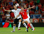 Marko Arnautovic of Austria tussles with James Chester of Wales during the World Cup Qualifying Group D match at the Cardiff City Stadium, Cardiff. Picture date 2nd September 2017. Picture credit should read: Simon Bellis/Sportimage