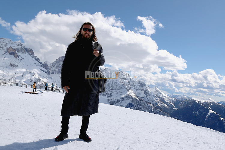 French DJ, Bob Sinclar performs during the Bob Sinclar - Dolomiti Top Music in Madonna di Campiglio, on April 1, 2018. Photo by Pierre Teyssot