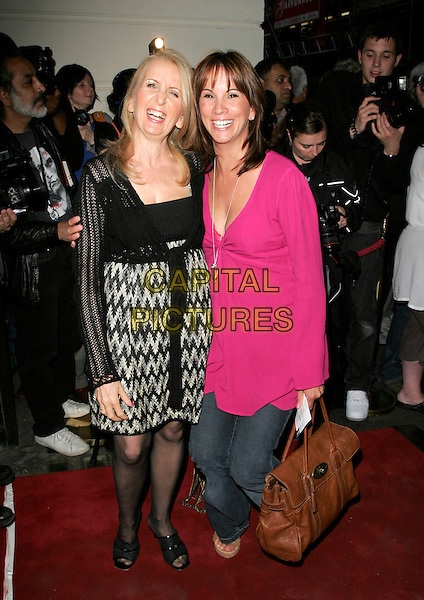 DR. GILLIAN McKEITH & ANDREA McLEAN.Grease - press night, Piccadilly Theatre, London, England..August 8th, 2007.full length pink top jeans denim brown leather bag purse black crochet dress mulberry .CAP/AH.©Adam Houghton/Capital Pictures