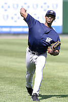 Fort Wayne Wizards Joel Santo during a Midwest League game at Oldsmobile Park on July 13, 2006 in Fort Wayne, Indiana.  (Mike Janes/Four Seam Images)