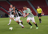 Callum McGregor being watched by Shaun Byrne in the Dunfermline Athletic v Celtic Scottish Football Association Youth Cup Final match played at Hampden Park, Glasgow on 1.5.13.