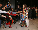 Afra Hines with Allyson Tucker, LaChanze, Aaron Krohn, Storm Lever and cast during the Opening Night Actors' Equity Gypsy Robe Ceremony honoring  Afra Hines for 'Summer:The Donna Summer Musical at Lunt-Fontanne Theatre on April 23, 2018 in New York City.