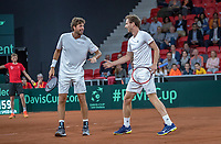 The Hague, The Netherlands, September 16, 2017,  Sportcampus , Davis Cup Netherlands - Chech Republic, Doubles:  Haase/Middelkoop (NED) (R)<br /> Photo: Tennisimages/Henk Koster