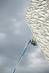 The new titanic center under construction in Belfast
