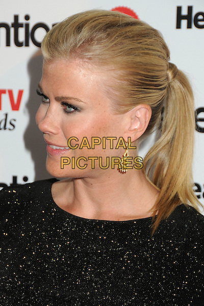 "Alison Sweeney.Prevention Magazine Presents the Inaugural ""Prevention Healthy TV Awards"" held at The Paley Center for Media, Beverly Hills, California, USA..September 27th, 2011.headshot portrait profile ponytail black sparkly.CAP/ADM/BP.©Byron Purvis/AdMedia/Capital Pictures."