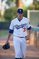 AZL Dodgers starting pitcher James Marinan (31) before an Arizona League game against the AZL White Sox at Camelback Ranch on July 3, 2018 in Glendale, Arizona. The AZL Dodgers defeated the AZL White Sox by a score of 10-5. (Zachary Lucy/Four Seam Images)