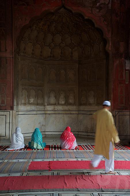 At the Jama Masjid Mosque Old part of Delhi, India