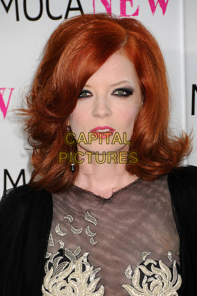 SHIRLEY MANSON.MOCA's 30th Anniversary Gala held at MOCA, Los Angeles, California, USA..November 14th, 2009.headshot portrait black sheer pink lipstick eyeliner .CAP/ADM/BP.©Byron Purvis/AdMedia/Capital Pictures.