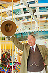 "U.S. President Theodore Roosevelt, played by actor James Foote, campaigning at historic Nunley's Carousel Centennial Celebration on Saturday, June 9, 2012, at Museum Row, Garden City, Long Island, New York, USA. 100th Anniversary festivities included old time game of croquet; a visit from ""Pres. Teddy Roosevelt""  who ran again for President in 1912 (unsuccessfully, as Bull Moose Party candidate), the year Nunley's Carousel debuted; and Carousel rides."