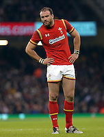 Jamie Roberts of Wales during the RBS 6 Nations Championship rugby game between Wales and Scotland at the Principality Stadium, Cardiff, Wales, UK Saturday 13 February 2016