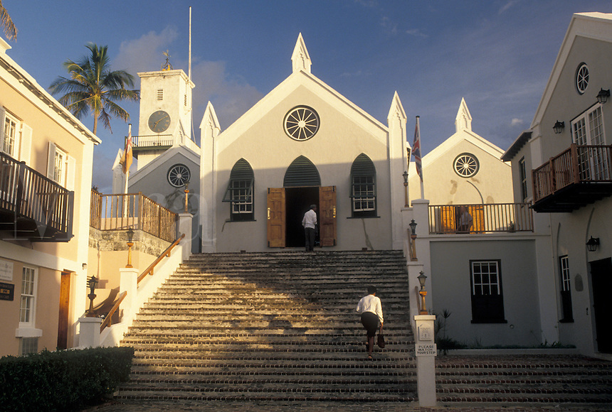 church, Bermuda, St. George's Parish, St. Peter's Church (oldest Anglican church) in St George in Bermuda.