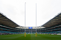 A general view of Twickenham Stadium prior to the match. The Clash, Aviva Premiership match, between Bath Rugby and Leicester Tigers on April 7, 2018 at Twickenham Stadium in London, England. Photo by: Patrick Khachfe / Onside Images