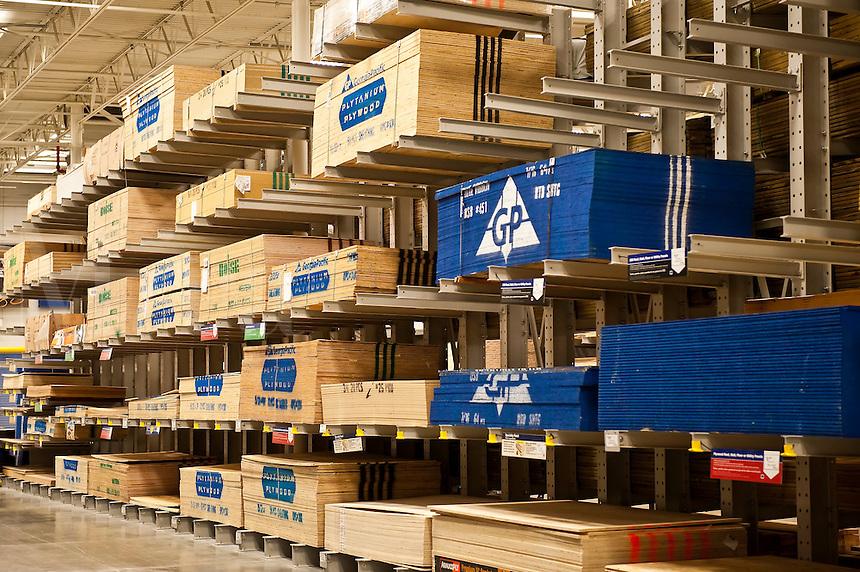 Wood building supplies..