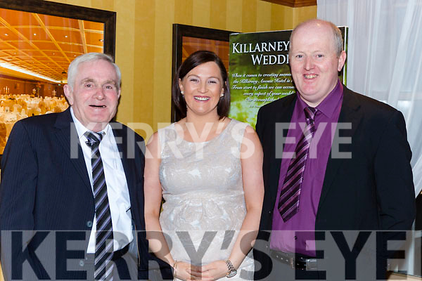 Paddy Hayes Killarney, Catriona Palmer Gneeveguilla and Sean O'Sullivan Kilcummin at the South West Harriers hunt club ball in the Killarney Avenue Hotel on Saturday night