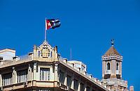 Cuba, Edeficio Bacardi und Hotel Plaza in Habana, Unesco-Weltkulturerbe