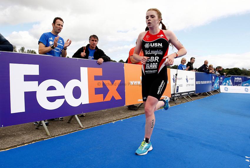 Photo: Richard Lane/Richard Lane Photography. GE Strathclyde Park Triathlon. 02/09/2012. Elite Women run.