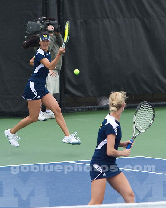 University of Michigan women's tennis 4-3 loss in Big Ten  Tournament finals at the Varsity Tennis Center in Ann Arbor, MI, on May 1, 2011.