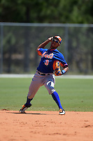 New York Mets Jean Rodriguez (3) during practice before a minor league spring training game against the Miami Marlins on March 30, 2015 at the Roger Dean Complex in Jupiter, Florida.  (Mike Janes/Four Seam Images)