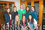Gillian Conway, Tonevane, Blennerville, seated between Shannon Canty (lt) and Deirdre Laffin celebrated her 17th birthday in Bella Bia, Tralee last Friday night with back l-r: Emer Lynch, Laurna Canty, Eoin Quilter, Katie McCarthy and Michelle Conway.