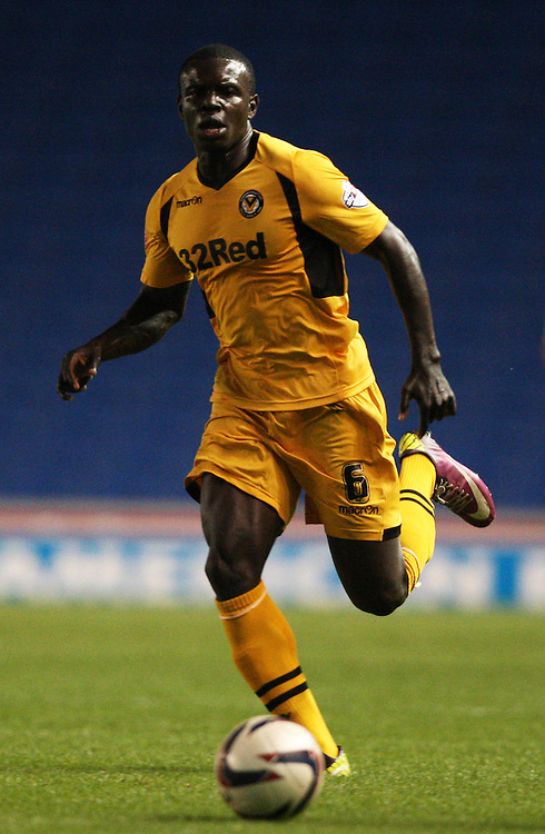 Newport County's Ismail Yakubu in action during todays match  <br /> (Photo by Kieran Galvin/CameraSport<br /> <br /> Football - Capital One Cup First Round - Brighton and Hove Albion v Newport County - Tuesday 6th August 2013 - American Express Community Stadium - Brighton<br />  <br /> &copy; CameraSport - 43 Linden Ave. Countesthorpe. Leicester. England. LE8 5PG - Tel: +44 (0) 116 277 4147 - admin@camerasport.com - www.camerasport.com