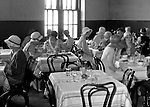 Pittsburgh PA:  Faculty and students having lunch at the Duquesne University cafeteria - 1932