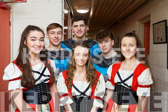 All action before the dress rehersal at the Cinderella Christmas Panto. Front l-r, Sally O'Hara, Roisin Moriarty and Ella Smith. Back l-r, Darragh Hurley, Tom Houston and Colm Atkinson.