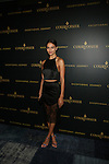 VICTORIA SECRET MODEL SHANINA SHAIK WEARING A SILK AND LACE LOVER OUTFIT AT TYSON BECKFORD HONORED  AT COURVOISIER'S EXCEPTIONAL JOURNEY LAUNCH EVENT HOSTED BY CHEF ROBLE HELD AT  THE SKYLARK