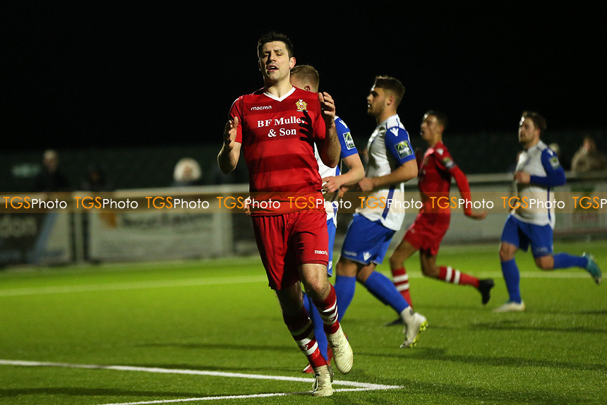 Sean Marks of AFC Hornchurch goes close during AFC Hornchurch vs Enfield Town, Velocity Trophy Final Football at Parkside on 10th April 2019