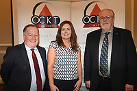 Pictured at an OCKT Chartered Accountants Budget Highlights Briefing in The Malton Hotel, Killarney on Wednesday were from left, Paul Sherry, Sarah Treacy, OCKT and Edward Schmidt-Zorner, President, Killarney Rotary.<br /> Photo: Don MacMonagle<br /> <br /> repro free photo