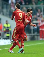 FUSSBALL   1. BUNDESLIGA  SAISON 2012/2013   13. Spieltag FC Bayern Muenchen - Hannover 96     24.11.2012 Einwechslung von Mario Gomez fuer Mario Mandzukic (FC Bayern Muenchen)