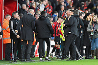 Watford managerNigel Pearson celebrates with his staff at the final whistle during AFC Bournemouth vs Watford, Premier League Football at the Vitality Stadium on 12th January 2020