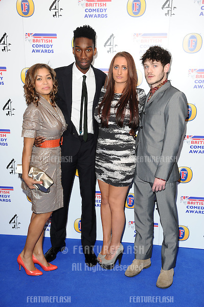 "Cast of ""Misfits"", Antonia Thomas, Nathan Stewart-Jarrett, Lauren Socha and Iwan Rheon arriving for 2011 Comedy Awards at Indigo, O2 arena, London. 22/01/2011  Picture by: Steve Vas / Featureflash"