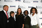 Trumps with Dorothy Hamill - Candace Matthews - Tamara Tunie at Skating with the Stars (celebrities & Olympic skaters), a benefit gala for Figure Skating in Harlem on April 6, 2010 at Wollman Rink, Central Park, New York City, New York. (Photo by Sue Coflin/Max Photos)