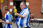 Brighton & Hove Albion fans arriving for today's premier league match at the Vicarage Road Stadium, Watford. Picture date 26th August 2017. Picture credit should read: Robin Parker/Sportimage